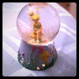 Tinker bell mini snow globe